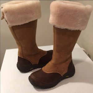 ❤️New Ugg Miko chestnut/brown leather boots 5.5